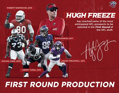 2020 Liberty Football Recruiting Graphics