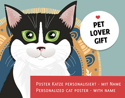Order your customizable cat poster