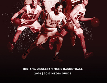 2016/17 IWU Men's Basketball Media Guide Art Direction