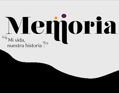 """Proyecto editoral """"Memoria"""""""