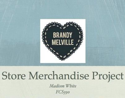 Fashion Buying | Store Merchandising Project