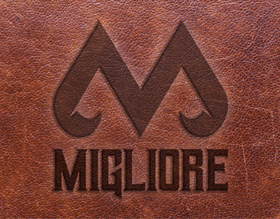 """""""Migliore"""" logo for leather company."""
