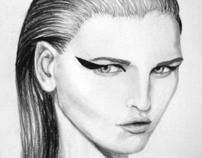Face Study - Fashion Sketching