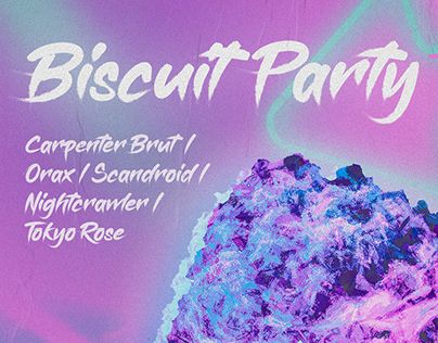 """Biscuit Retro Wave Party"" Poster"