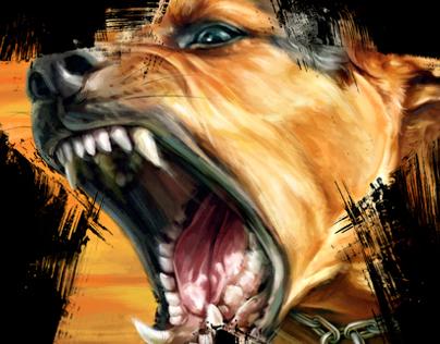 Barking Dog | printed tee design