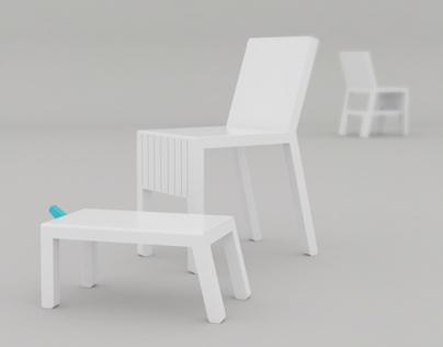 Friends - chair and stool