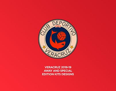 Veracruz 2018-19 away and special edition kits designs.