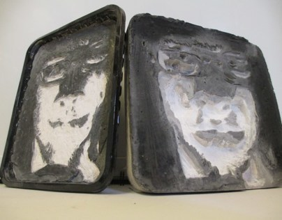 """Etchings in Plaster- """"Left The Mark!"""""""