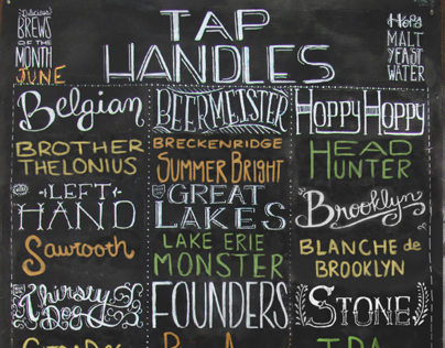 Brews of the Month Chalkboard