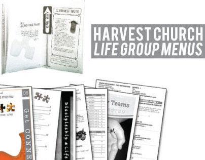 Harvest Church Life Group Menu Books