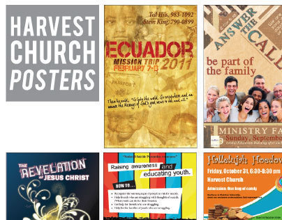 Harvest Church Various Posters