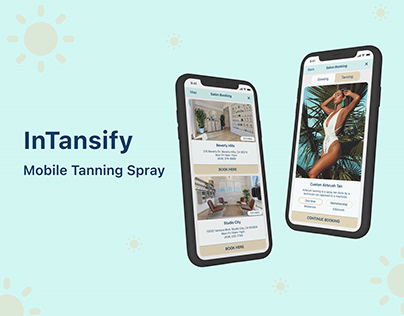 Tanning spray | Mobile app UX/UI Design