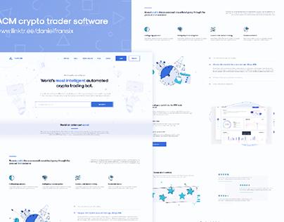 ACM Trader website ui/ux design