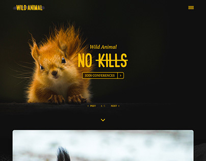 Wild Animal - Free LandingPage Template​​​​​​​