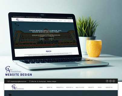 City Aluminium: Website UI design