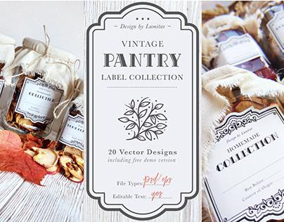 Vintage Pantry Labels | FREE DEMO