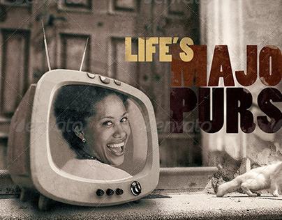 Life's Major Pursuit Church Flyer Template