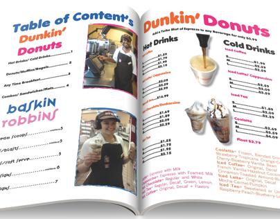 Portable Dunkin Donuts/Baskin Robins Menu