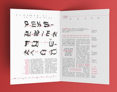Cárcel - Desplegable tipográfico