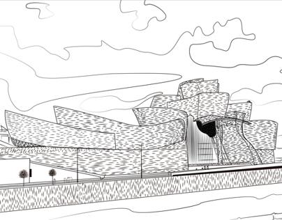 """Guggenheim a """"plumilla vectorial"""""""