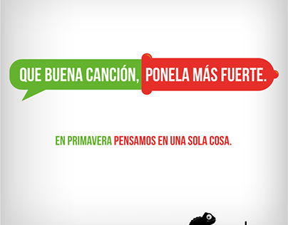 Camaleón Preservativos - Campaña primavera 2014