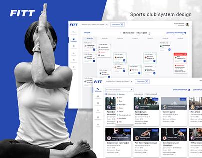 Sports club system design