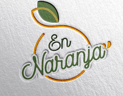"""Logo design """"En Naranja"""""""