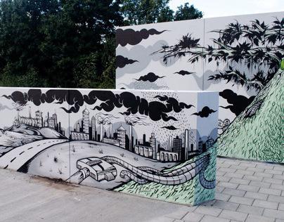 Wallpainting IBA Hamburg