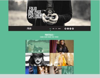 .Folio - OnePage Psd Theme