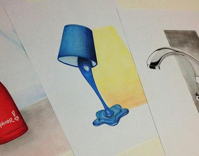 Ilustração de produto: lápis aquarela.