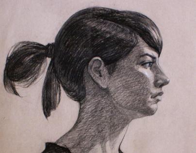 Portrait in profile