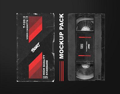 OLD VHS video cassette MOCKUP PACK retro