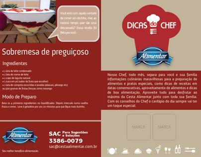 Alimentar - Projeto Dicas do Chef - Folder