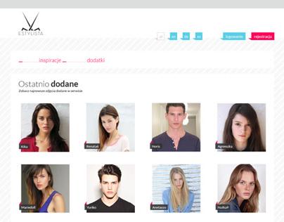 e-stylista | user interface