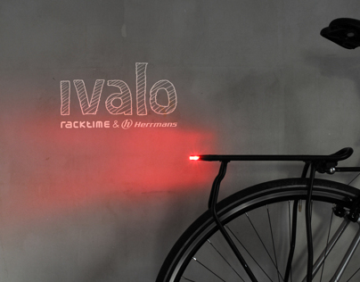 IVALO - rack integrated bicycle rear light