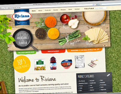 Custom Website Design for Riviana Food Service