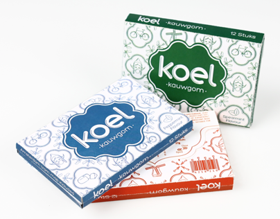 Koel Kauwgom - Gum Packaging design