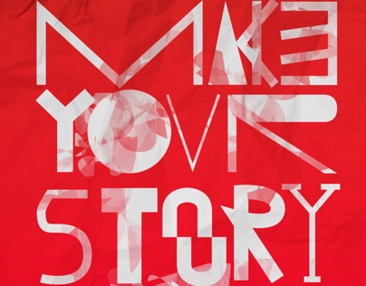 .make your story in fonts.