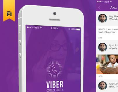 A More VIBRANT Viber | iOS 7