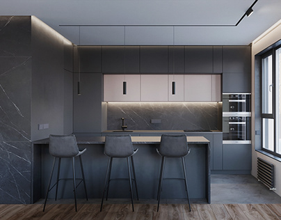 Minimalistic apartment in Moscow, 70m2