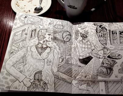 Cafe Nero Sketchbook and Coffee III