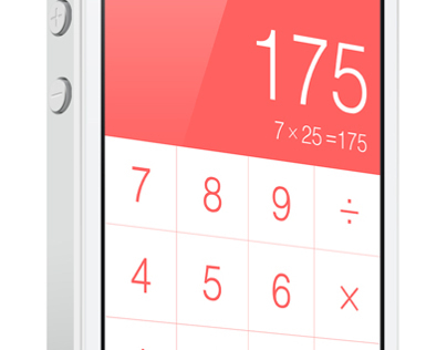 iPhone 5 Calculator UI – Simplicity