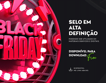 SELO 3D PROMOCIONAL BLACK FRIDAY