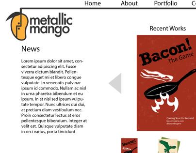 Metallic Mango website mockup
