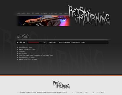 Website design for Red Sky At Mourning