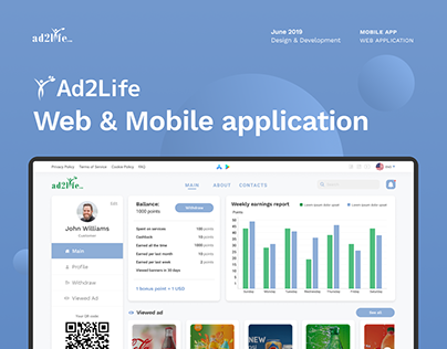 Ad2Life - platform for creating and publishing ads
