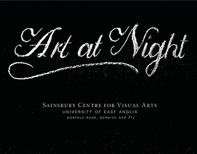 Art at Night Event Poster