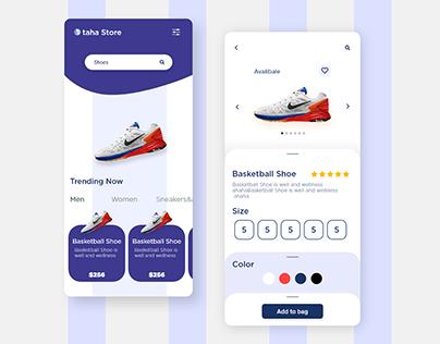 taha store UI/UX design