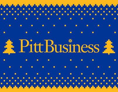 Pitt Business Ugly Christmas Sweater
