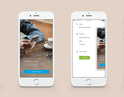 VPN iOS app redesign